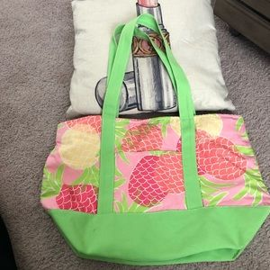 LILY PULITZER Beach Bag/Tote Pineapple